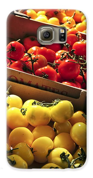 Tomatoes On The Market Galaxy S6 Case by Elena Elisseeva