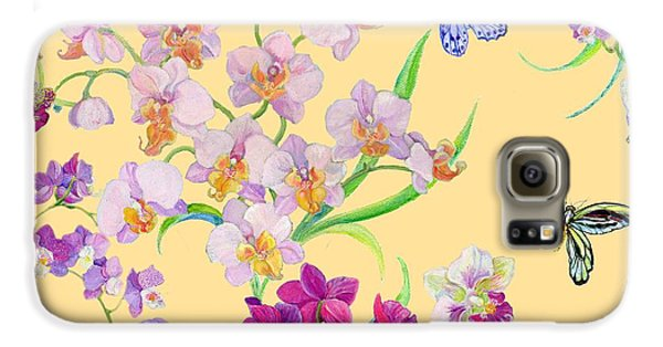 Tossed Orchids Galaxy S6 Case by Kimberly McSparran