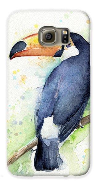 Toucan Watercolor Galaxy S6 Case by Olga Shvartsur