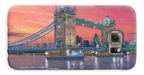 Tower Bridge After The Snow Galaxy S6 Case by Richard Harpum