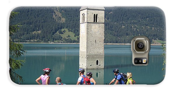 Galaxy S6 Case featuring the photograph Tower In The Lake by Travel Pics
