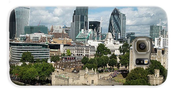 Tower Of London And City Skyscrapers Galaxy S6 Case by Mark Thomas