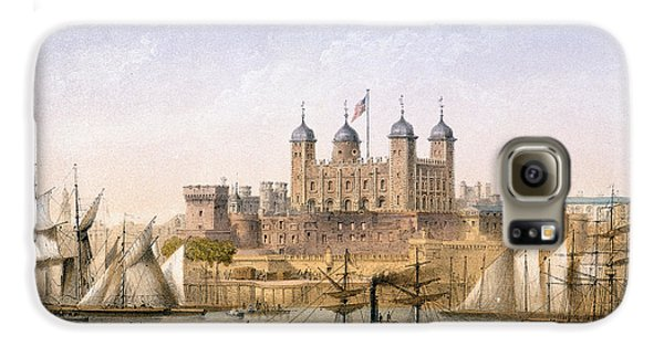 Tower Of London, 1862 Galaxy S6 Case by Achille-Louis Martinet