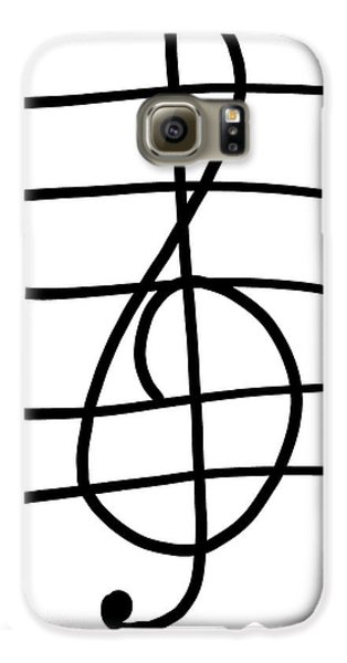 Treble Clef Galaxy S6 Case by Jada Johnson