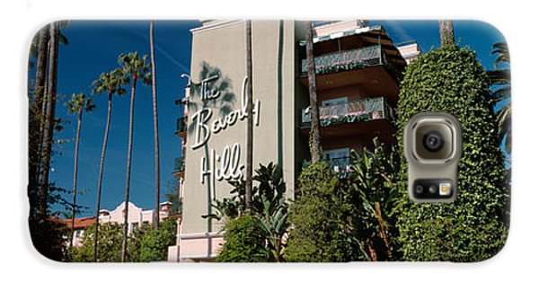 Trees In Front Of A Hotel, Beverly Galaxy S6 Case by Panoramic Images