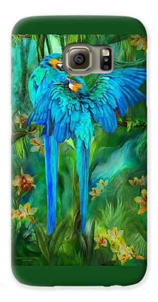 Tropic Spirits - Gold And Blue Macaws Galaxy S6 Case by Carol Cavalaris