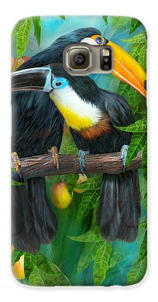 Tropic Spirits - Toucans Galaxy S6 Case by Carol Cavalaris