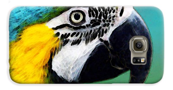 Tropical Bird - Colorful Macaw Galaxy S6 Case by Sharon Cummings
