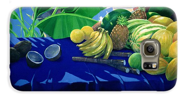 Tropical Fruit Galaxy S6 Case by Lincoln Seligman