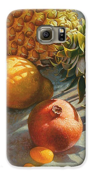 Tropical Fruit Galaxy S6 Case by Mia Tavonatti