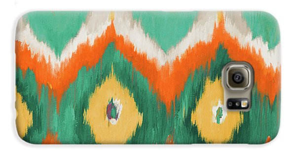 Tropical Ikat II Galaxy S6 Case by Patricia Pinto