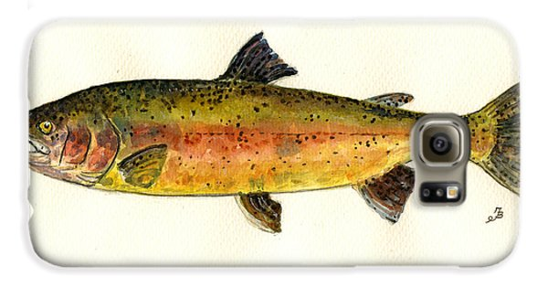Trout Fish Galaxy S6 Case by Juan  Bosco
