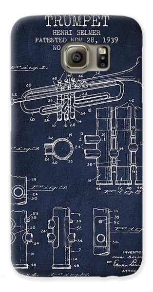 Trumpet Patent From 1939 - Blue Galaxy S6 Case by Aged Pixel