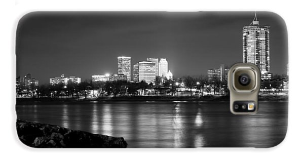 Tulsa In Black And White - University Tower View Galaxy S6 Case by Gregory Ballos