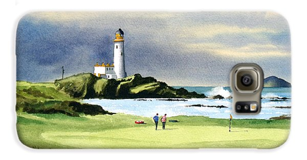 Turnberry Golf Course Scotland 10th Green Galaxy S6 Case by Bill Holkham