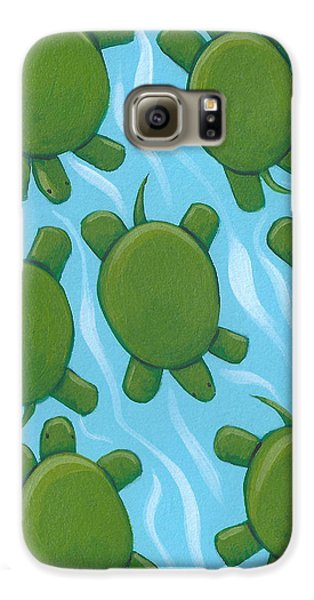 Turtle Nursery Art Galaxy S6 Case by Christy Beckwith