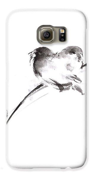 Two Birds Minimalism Artwork. Galaxy S6 Case by Mariusz Szmerdt