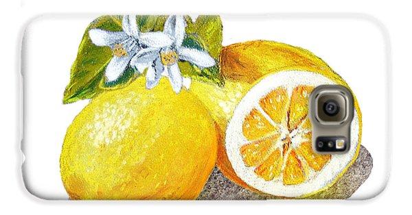 Two Happy Lemons Galaxy S6 Case by Irina Sztukowski