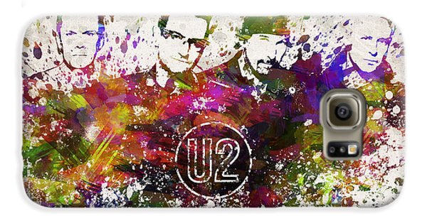 U2 In Color Galaxy S6 Case by Aged Pixel