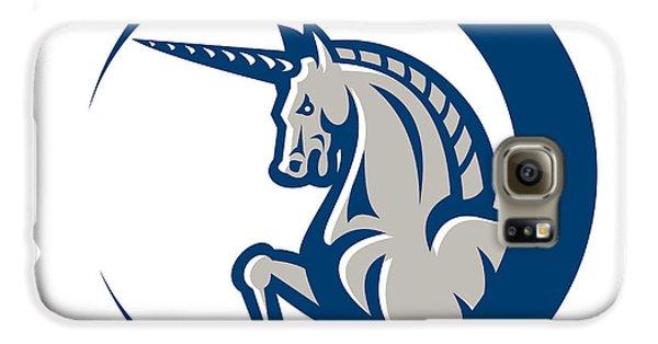 Unicorn Horse Prancing Side Galaxy S6 Case by Aloysius Patrimonio