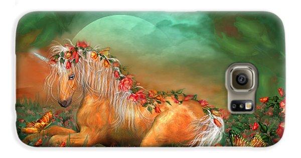 Unicorn Of The Roses Galaxy S6 Case by Carol Cavalaris
