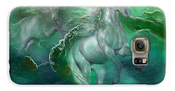 Unicorns Of The Sea Galaxy S6 Case by Carol Cavalaris