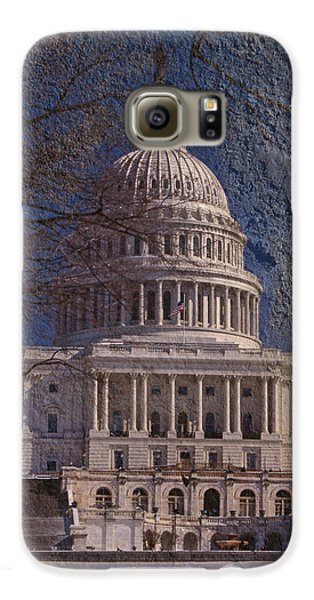 United States Capitol Galaxy S6 Case by Skip Willits