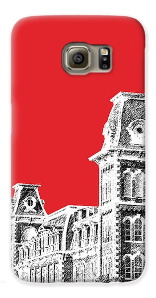 University Of Arkansas - Red Galaxy S6 Case by DB Artist