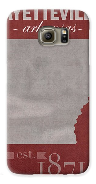 University Of Arkansas Razorbacks Fayetteville College Town State Map Poster Series No 013 Galaxy S6 Case by Design Turnpike