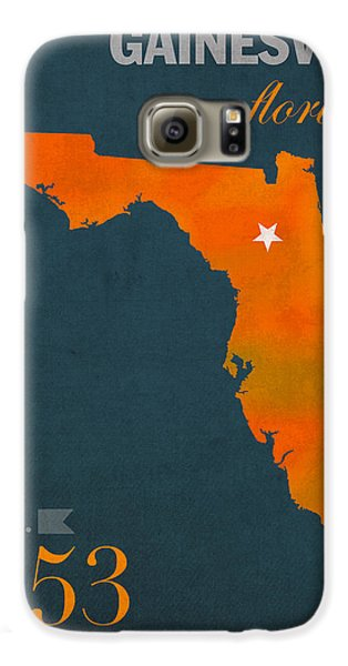 University Of Florida Gators Gainesville College Town Florida State Map Poster Series No 003 Galaxy S6 Case by Design Turnpike