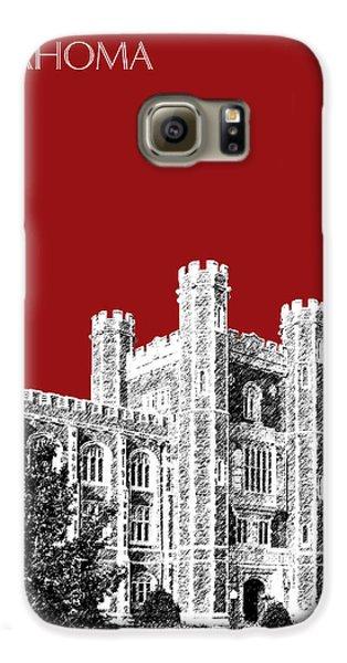 University Of Oklahoma - Dark Red Galaxy S6 Case by DB Artist