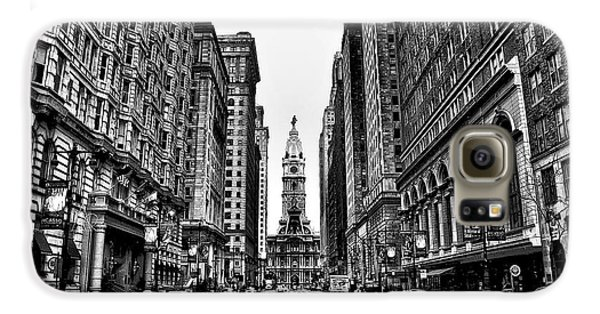 Urban Canyon - Philadelphia City Hall Galaxy S6 Case by Bill Cannon