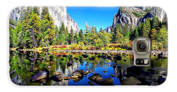 Valley View Reflection Yosemite National Park Galaxy S6 Case by Scott McGuire