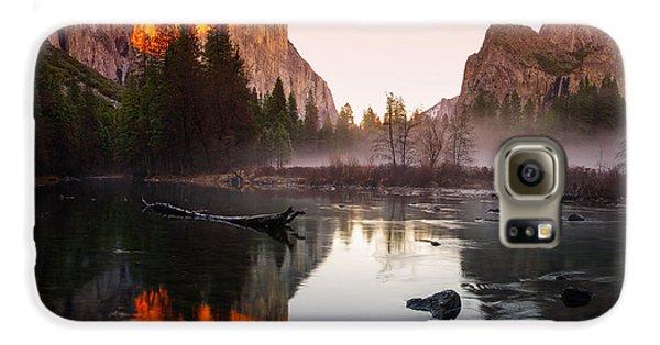 Valley View Winter Sunset Yosemite National Park Galaxy S6 Case by Scott McGuire