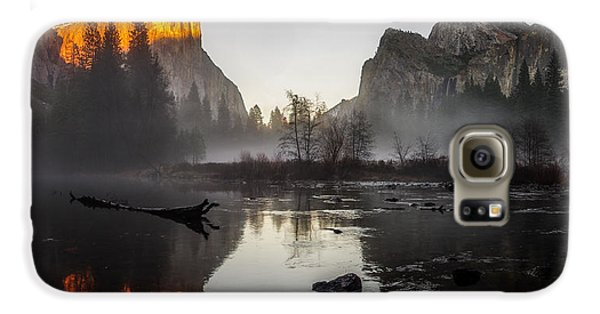 Valley View Yosemite National Park Winterscape Sunset Galaxy S6 Case by Scott McGuire