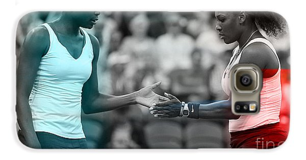 Venus Williams And Serena Williams Galaxy S6 Case by Marvin Blaine