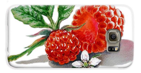 Artz Vitamins A Very Happy Raspberry Galaxy S6 Case by Irina Sztukowski