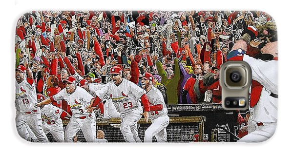 Victory - St Louis Cardinals Win The World Series Title - Friday Oct 28th 2011 Galaxy S6 Case by Dan Haraga