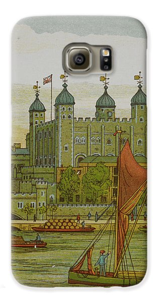 View Of The Tower Of London Galaxy S6 Case by British Library