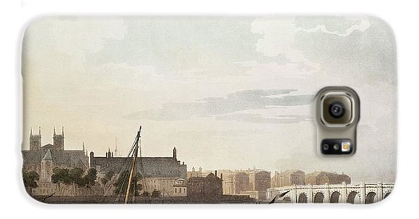 View Of Westminster And The Bridge Wc On Paper Galaxy S6 Case by English School