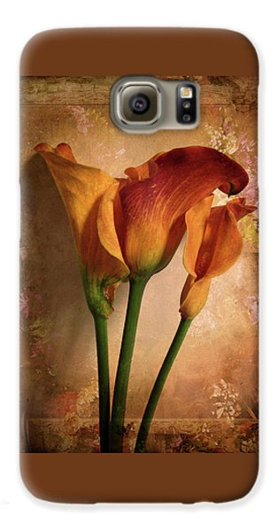 Vintage Calla Lily Galaxy S6 Case by Jessica Jenney