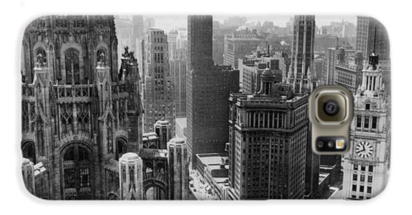 Vintage Chicago Skyline Galaxy S6 Case by Horsch Gallery