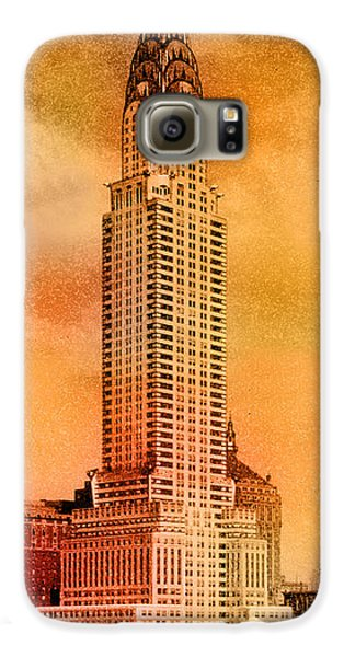 Vintage Chrysler Building Galaxy S6 Case by Andrew Fare