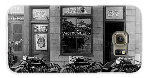 Vintage Motorcycle Dealership Galaxy S6 Case by Jon Neidert