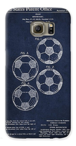 Vintage Soccer Ball Patent Drawing From 1964 Galaxy S6 Case by Aged Pixel