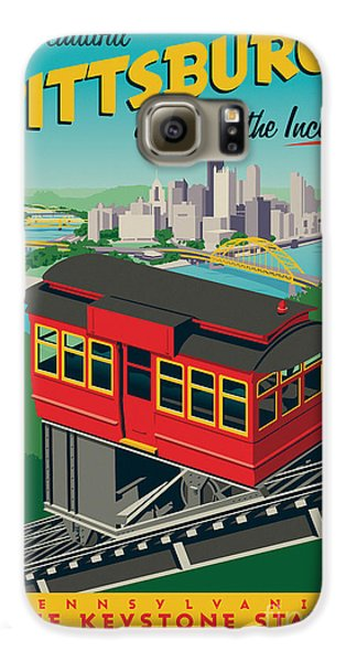 Vintage Style Pittsburgh Incline Travel Poster Galaxy S6 Case by Jim Zahniser