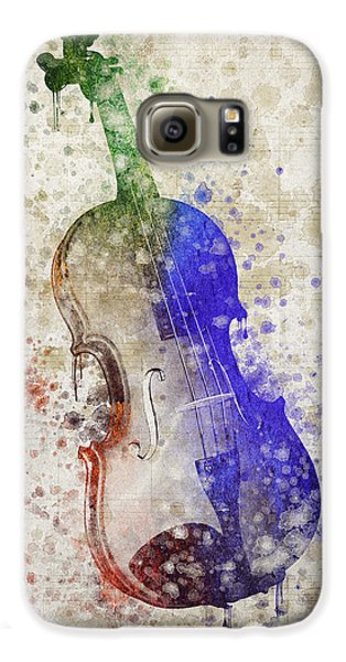 Violin Galaxy S6 Case by Aged Pixel
