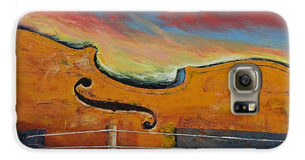 Violin Galaxy S6 Case by Michael Creese
