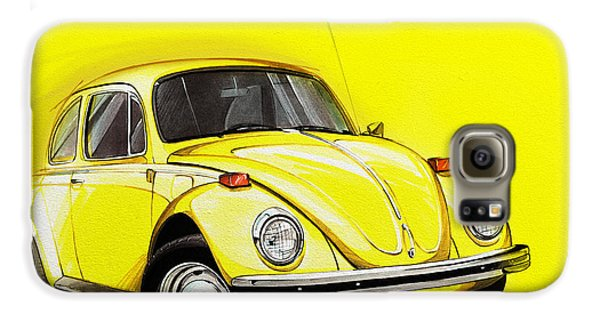 Volkswagen Beetle Vw Yellow Galaxy S6 Case by Etienne Carignan