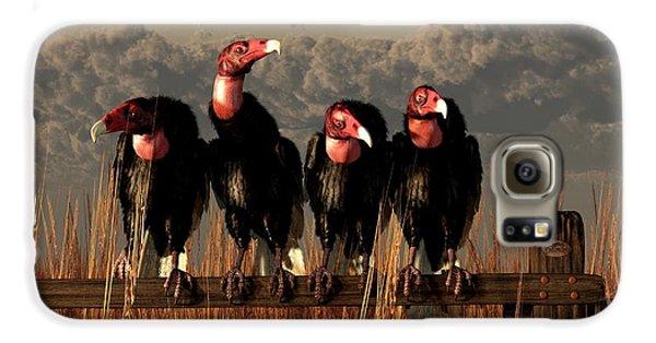 Vultures On A Fence Galaxy S6 Case by Daniel Eskridge